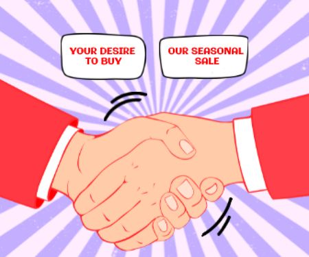 Illustration of Business Handshake Large Rectangle – шаблон для дизайну