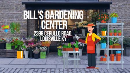 Florist Studio Ad with Gardener Working Full HD video – шаблон для дизайну