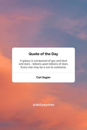 Plantilla de diseño de Quote of the day on pink sky Pinterest