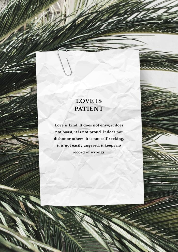 Love Quote on palm Leaves — Crear un diseño