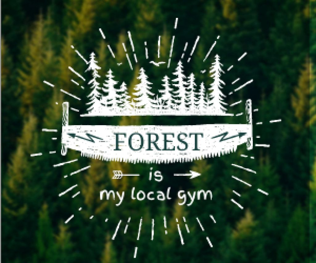 Forest quote poster — Modelo de projeto
