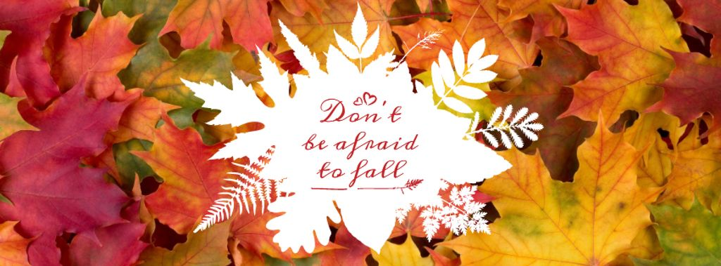 Quote on Autumn leaves background — Crear un diseño