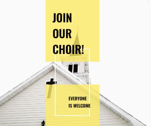 Invitation to a religious choir Large Rectangle – шаблон для дизайну