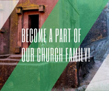 Plantilla de diseño de Become a part of our church family Medium Rectangle
