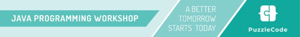 Java programming workshop banner Leaderboard – шаблон для дизайну