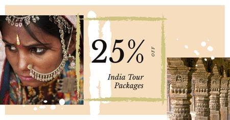 Modèle de visuel Indian girl in traditional costume - Facebook AD