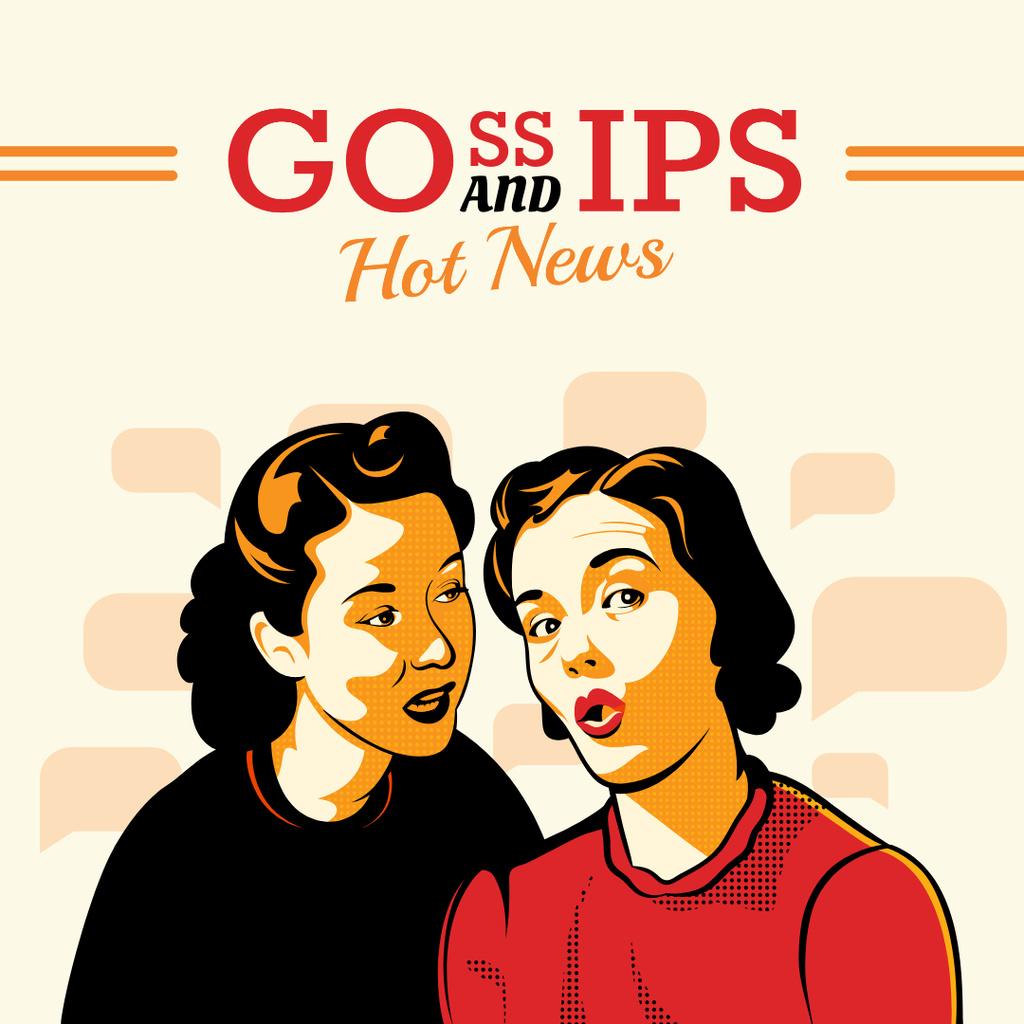 Hot news with Gossips Instagramデザインテンプレート