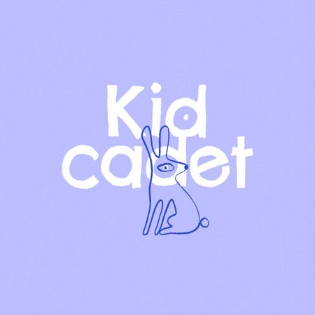 School Education Ad with Cute Rabbit Illustration Logo – шаблон для дизайну