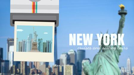 Designvorlage Tour Invitation with New York City für Full HD video