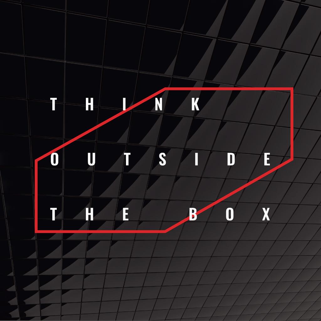 Think outside the box Citation — ein Design erstellen