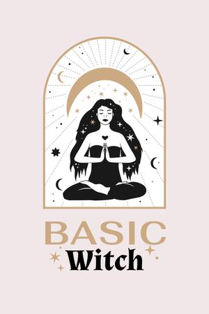 Modèle de visuel Astrological Inspiration with meditating Witch - Pinterest