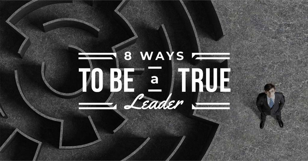 Leadership ways with Maze and Businessman — Créer un visuel