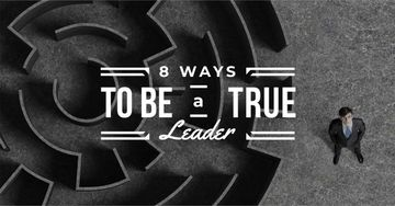 Leadership ways with Maze and Businessman