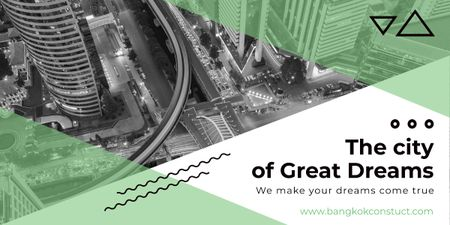 Plantilla de diseño de City of great dreams poster Image