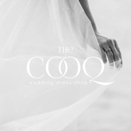 Wedding Store Offer with Tender Bride in Veil Logo – шаблон для дизайну