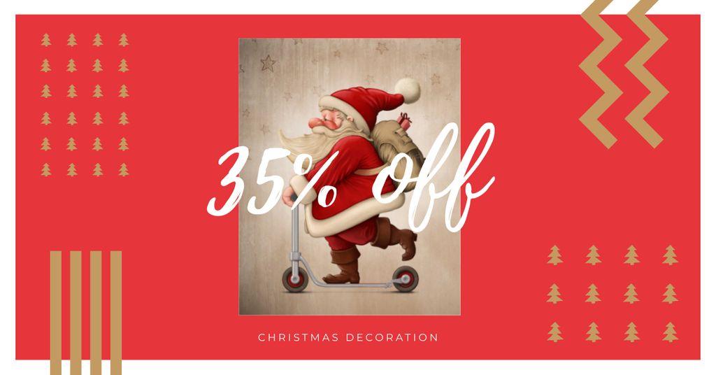 Christmas Decoration Discount Offer — Modelo de projeto