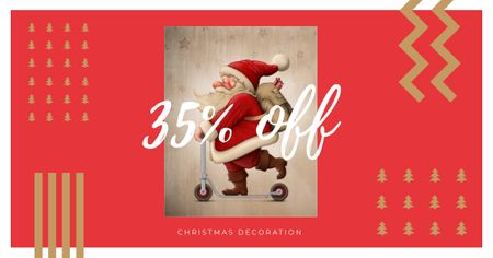 Modèle de visuel Christmas Decoration Discount Offer - Facebook AD