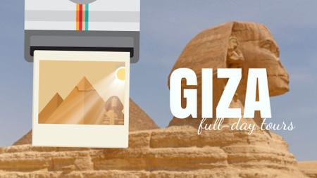 Modèle de visuel Giza Pyramids and Sphinx - Full HD video