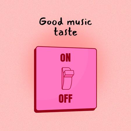 Funny Joke about Good Music Taste Album Coverデザインテンプレート