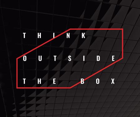 Plantilla de diseño de Think outside the box Quote on black tiles Facebook