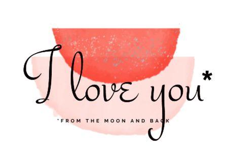 Platilla de diseño Cute Romantic Love Phrase Card