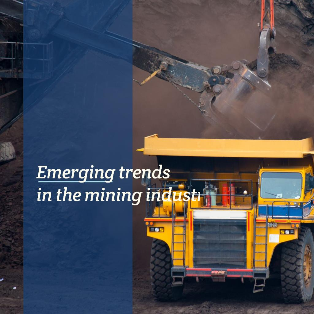 Mining industry with Yellow harvester — Crear un diseño
