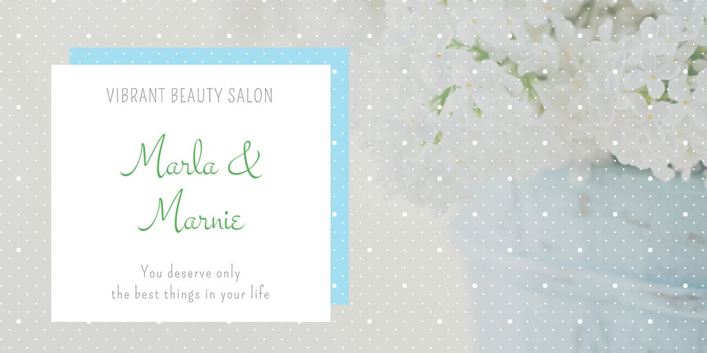 Beauty studio ad with Spring Flowers Image Design Template