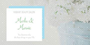 Beauty salon advertisement
