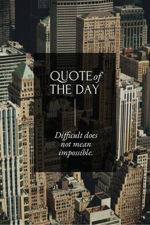 Plantilla de diseño de Business Quote with City Skyscrapers Pinterest