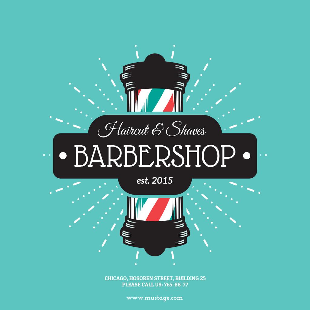 Barbershop Vintage Style Ad — Створити дизайн