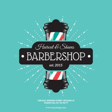 Barbershop Vintage Style Ad