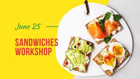 Designvorlage Assorted delicious Toasts für FB event cover