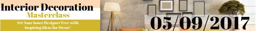 Interior decoration masterclass Leaderboard – шаблон для дизайна