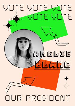Template di design School President Election Announcement Poster