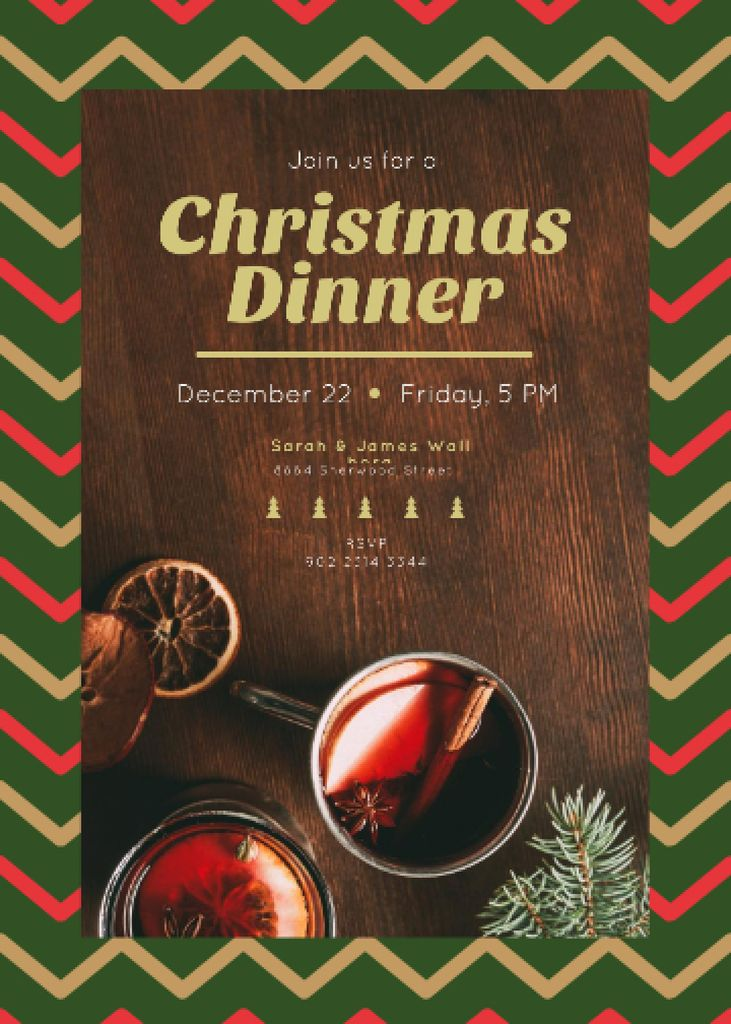Christmas Dinner Red Mulled Wine — Crear un diseño