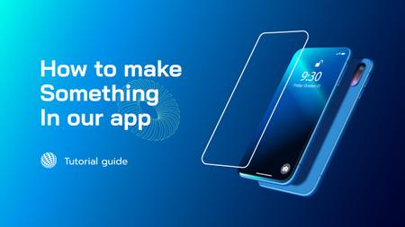 App Ad with Modern Smartphones Youtube Thumbnail Modelo de Design