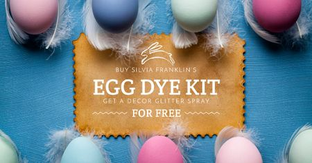Designvorlage Easter Egg dye kit sale für Facebook AD