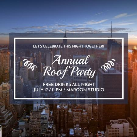 Template di design Roof Party Invitation Instagram
