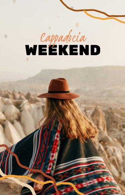 Girl travelling to Cappadocia IGTV Cover – шаблон для дизайну