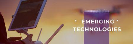 emerging technologies poster Twitter Modelo de Design