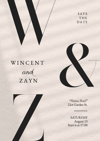 Save the Date and Wedding Event Announcement Invitation – шаблон для дизайну