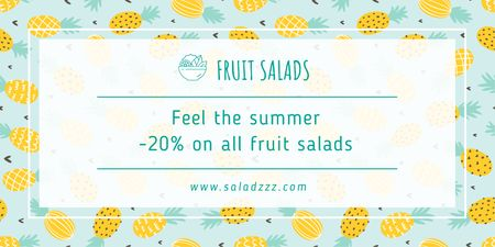 Fruit salads sale Twitter Modelo de Design