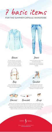List infographics with Fashion items Infographic Modelo de Design