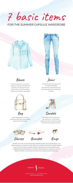 Ontwerpsjabloon van Infographic van List infographics with Fashion items