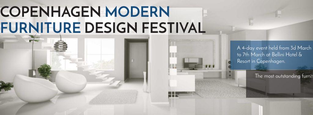 Furniture Design Festival with Modern White Room — Crear un diseño