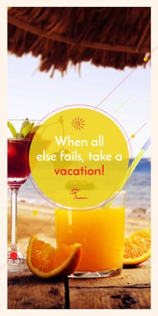 Vacation Offer Cocktail at the Beach Graphic – шаблон для дизайна