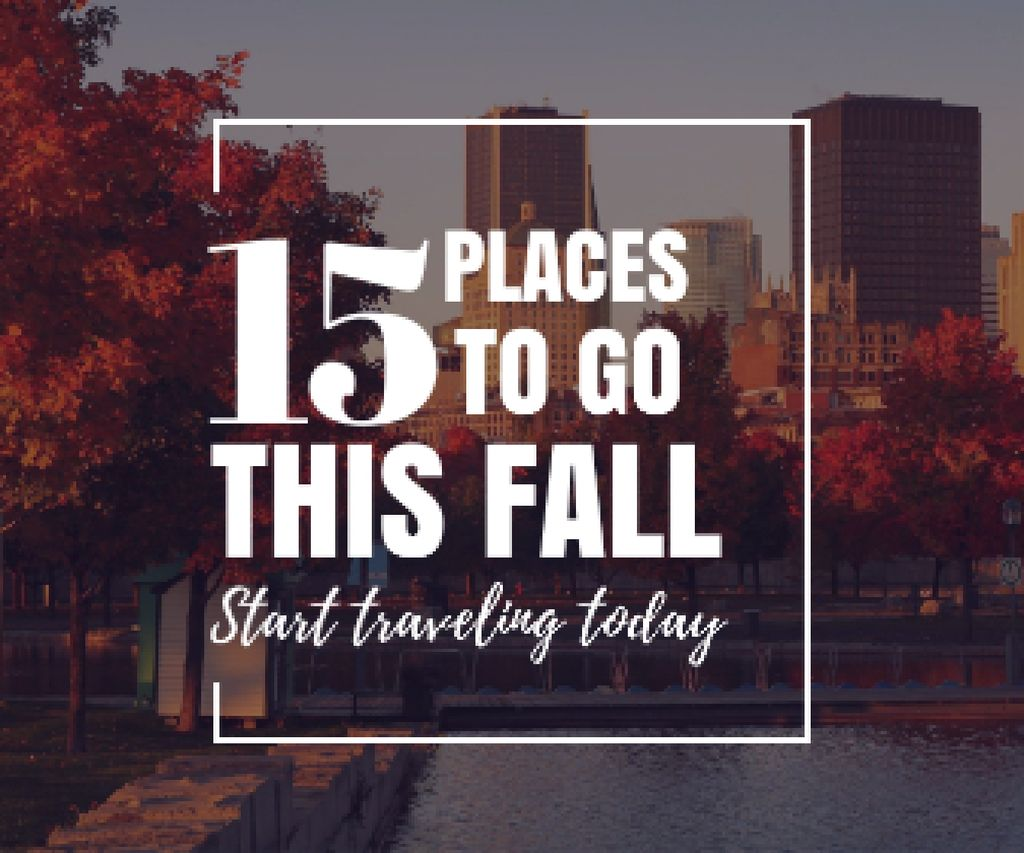 places to go this fall poster — Crea un design