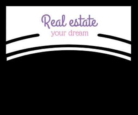 Plantilla de diseño de Real Estate Ad with Modern Buildings Large Rectangle
