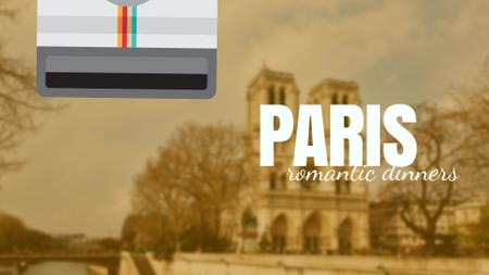 Plantilla de diseño de Tour Invitation with Paris Notre-Dame Full HD video