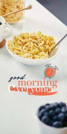 Breakfast with Fresh Cereals Graphic – шаблон для дизайна